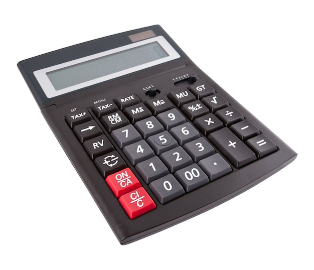 The business calculator isolated on white background