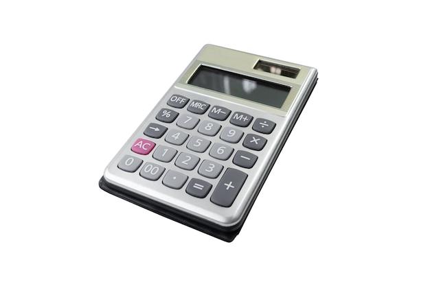 흰색 배경에 고립 된 심플한 디자인으로 비즈니스 계산기