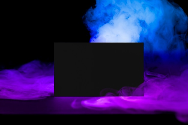 Business card, aesthetic smoke with design space