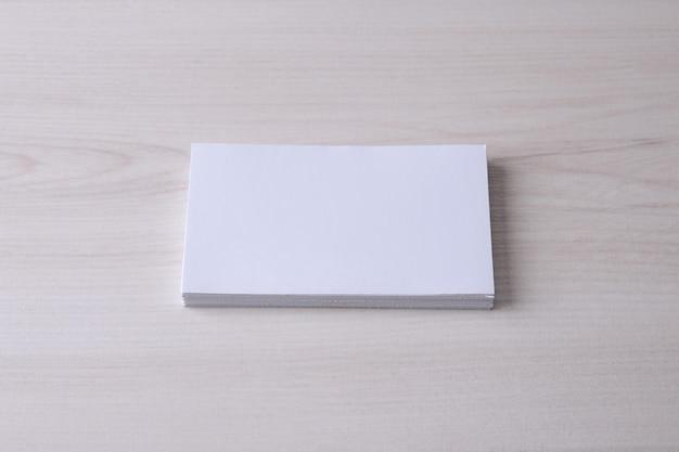 木製の名刺空白