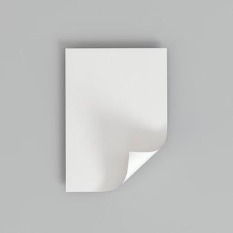 Carta dello spazio della copia del biglietto da visita con un angolo piegato