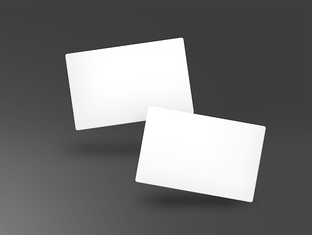 Business card couple isolated