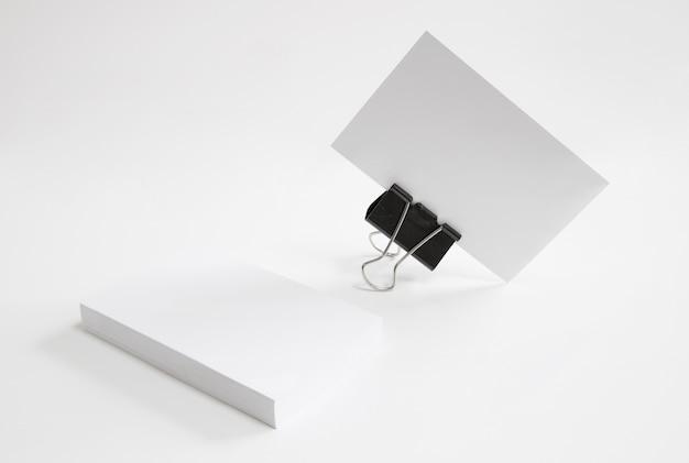 Business card held by bracket