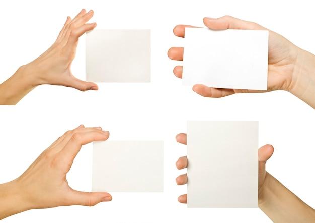 白で隔離の名刺