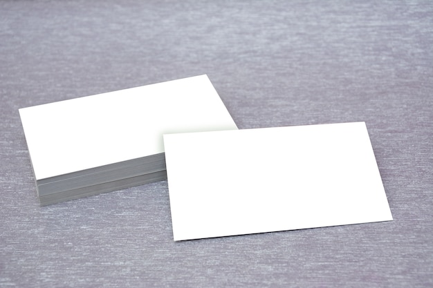 Business card mockup silver