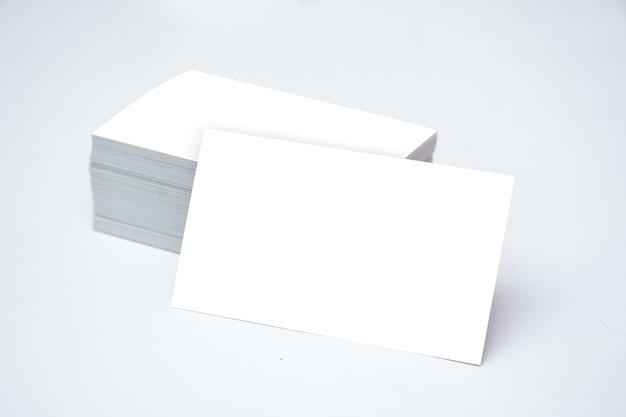 Business card mockup white