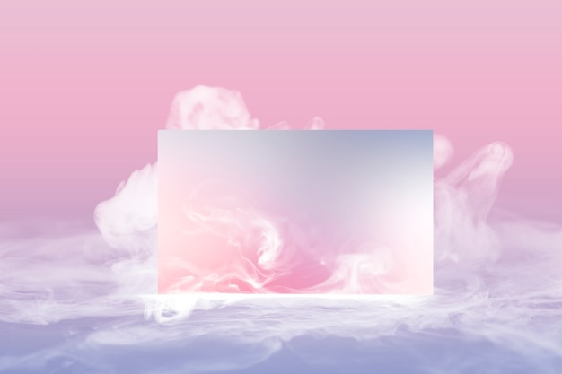 Business card, pastel smoke with design space