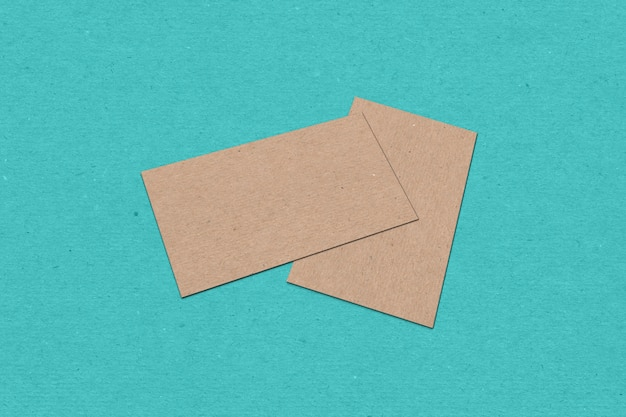 Business card template, business card on color textured background