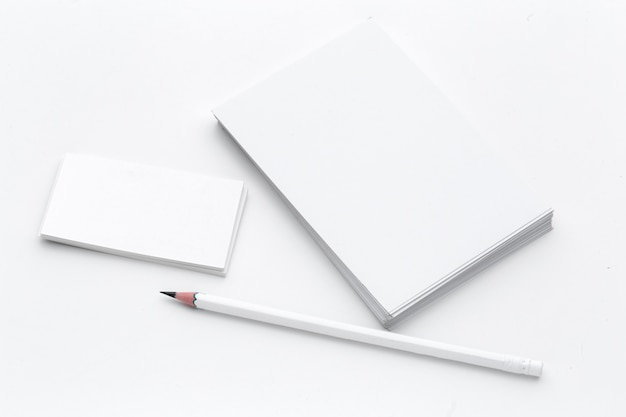 Business card with pencil