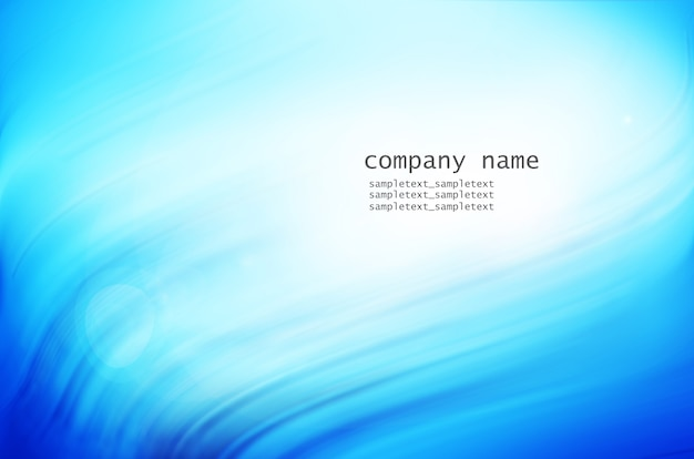 Business card with wavy background