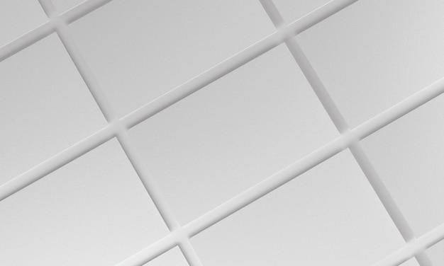 그리드에 복제된 명함입니다. 모형 디자인. 3d 렌더링.