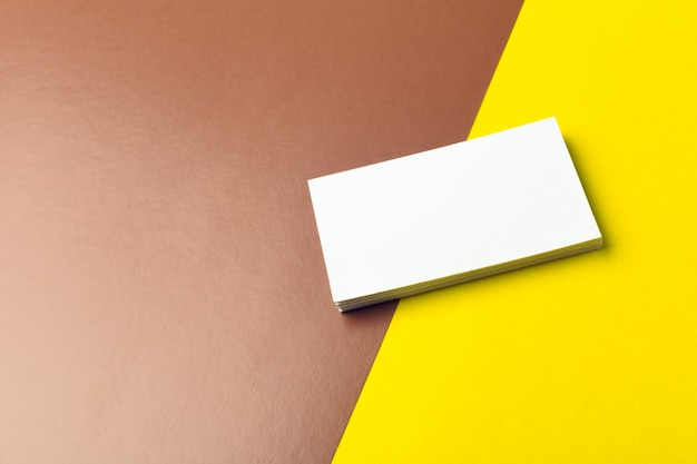 Business cards mockup on two color