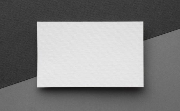 Визитные карточки с копией пространства шаблона вид сверху