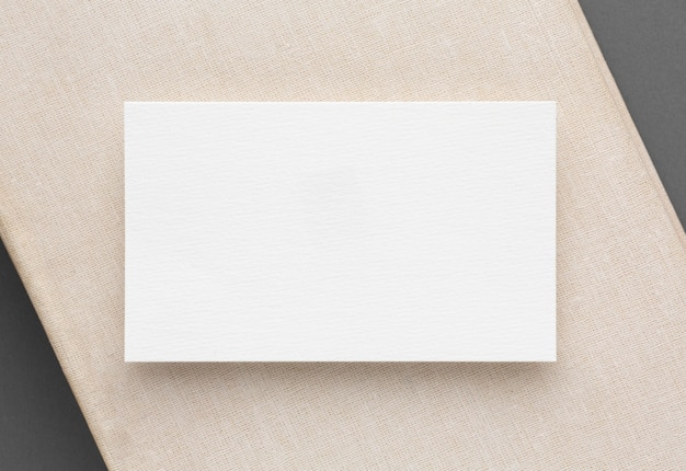 Business cards with copy space template top view