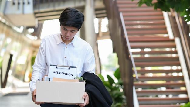 Business change of job, unemployment, resigned. Premium Photo