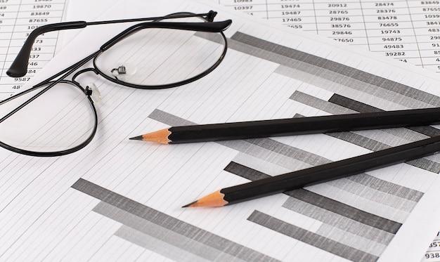 Бизнес-диаграмма, показывающая финансовый успех на фондовом рынке