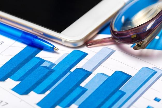 Business chart showing financial success