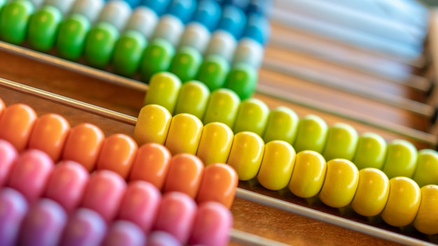 Business colorful abacus