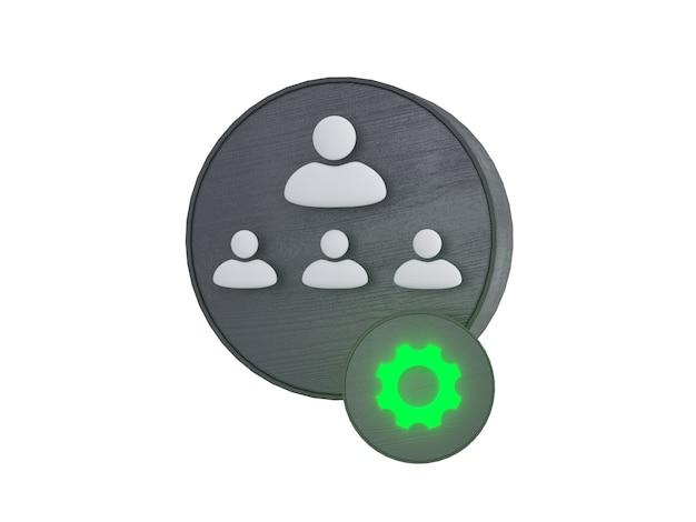 Набор иконок делового общения, изолированные на белом фоне корпоративные знаки 3d иллюстрация