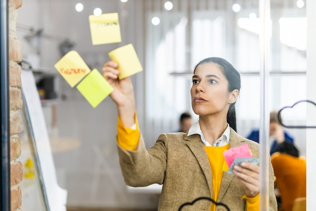 Business company employee brainstorming new ideas for  marketing plan