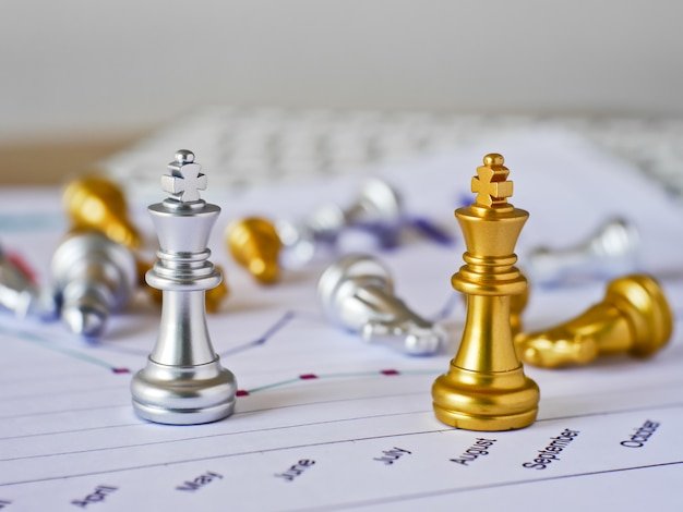 Business competition present by chess