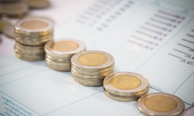 Business concept business,coins on the table
