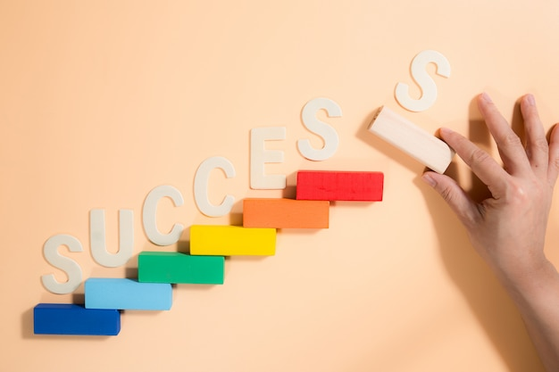 Business concept for growth success process.