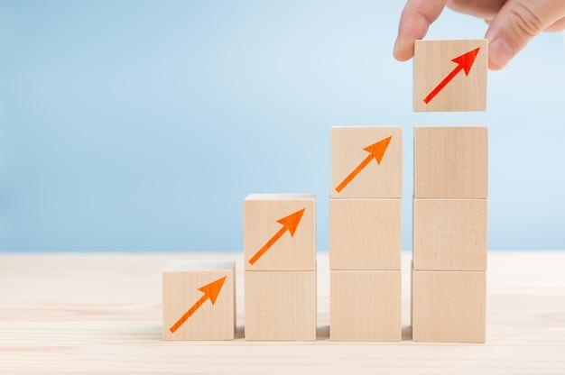 사다리 경력 경로 및 성장 성공 프로세스의 비즈니스 개념