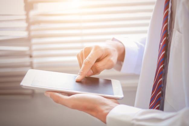 사업 개념, 태블릿 및 금융, 투자 및 수익성 사업 개념