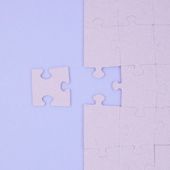 Business concept with jigsaw puzzle