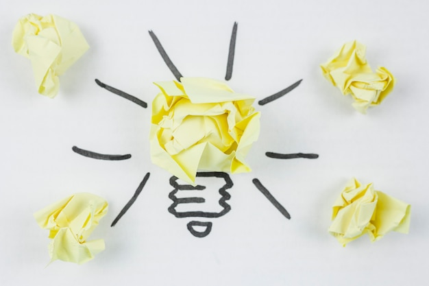 Business concept with lightbulb