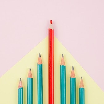 Business concept with pencils