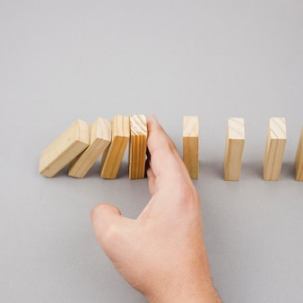 Business concept with wood blocks