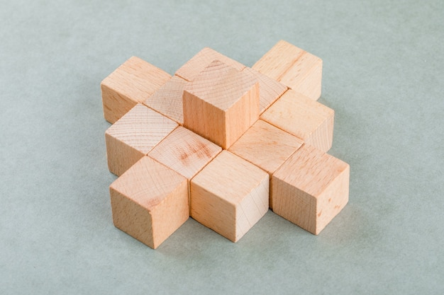 Business concept with wooden blocks