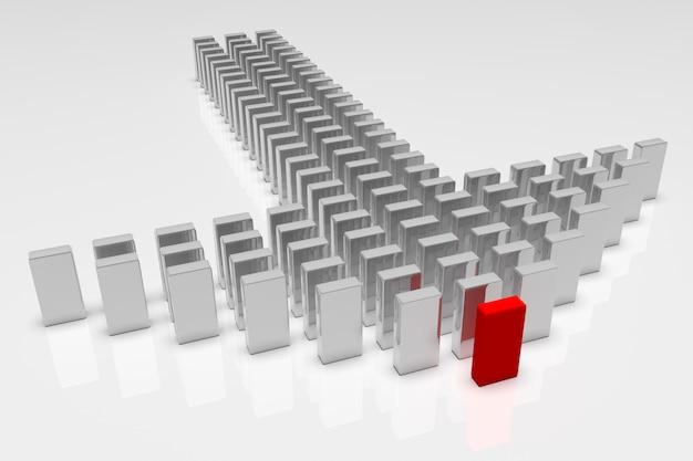 Бизнес-концепции, лидер ведет команду вперед
