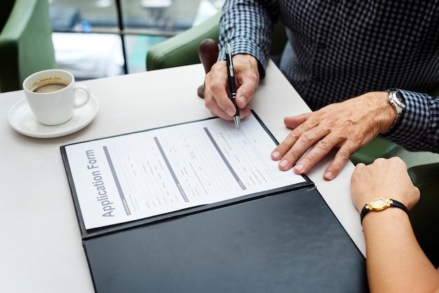 Концепция подписи подписи бизнес-контракта