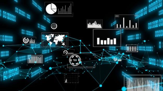 ビジネスデータと財務数値のグラフィック
