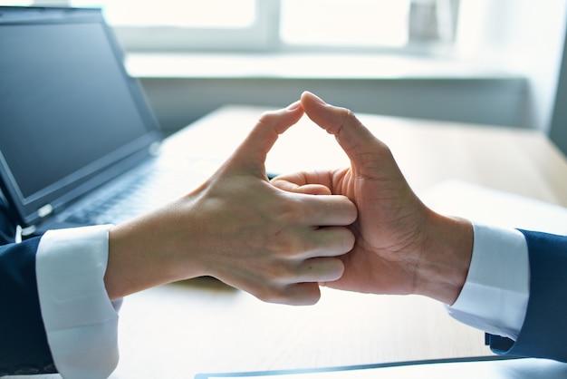Business deal shaking hands professionals job