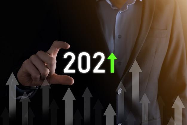 Концепция развития бизнеса к успеху и растущему росту до 2021 года. план графика роста бизнеса в концепции 2021 года. бизнес-план и увеличение положительных показателей в своем бизнесе.