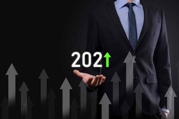 성공 및 성장 성장을위한 비즈니스 개발 2021 년 개념