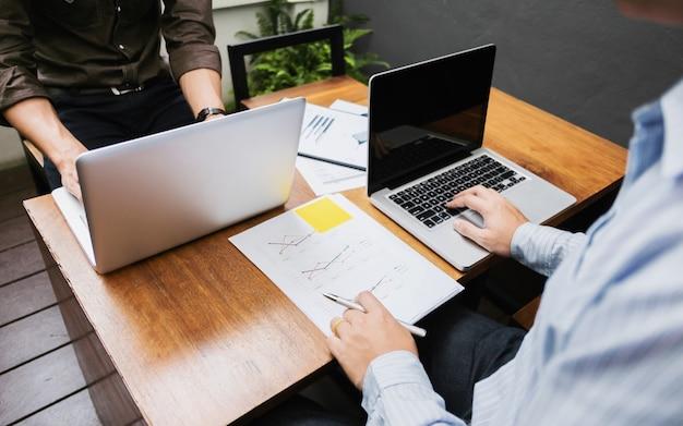 Business executives marketing analysis sales performance team, teamwork meeting concept