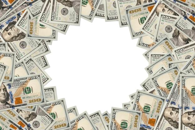Концепция бизнеса, финансов, инвестиций, сбережений и коррупции - крупный план долларовых денег на конкретном фоне