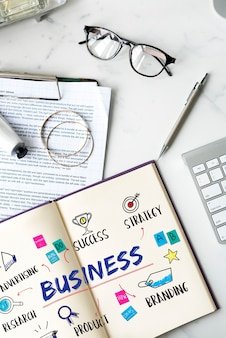 사업 목표 투자 계획 다이어그램 개념