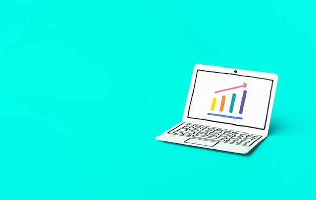 Бизнес-график роста финансовых и инвестиционных концепций идеи
