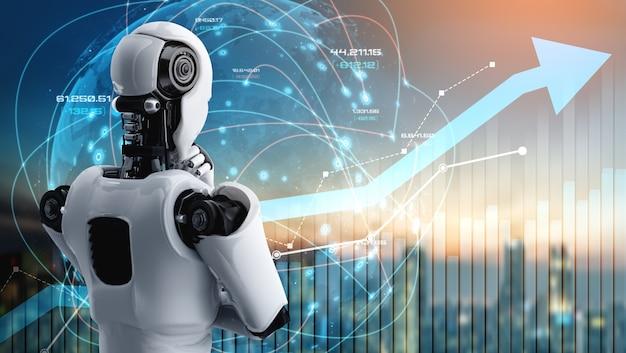 Концепция роста бизнеса с использованием искусственного интеллекта и технологий машинного обучения