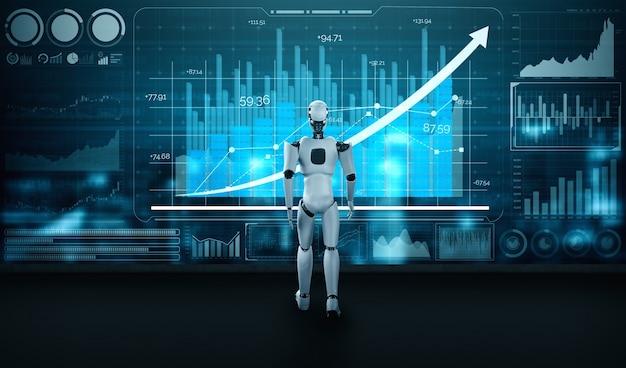 Ai 로봇과 머신 러닝 기술을 활용 한 비즈니스 성장 개념