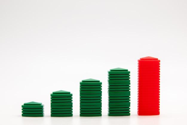 ビジネス成長の抽象的な背景のビジネス成長の概念図。