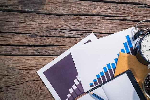 Документ графика роста бизнеса размещен на виде сверху