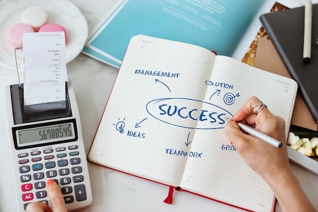 비즈니스 성장 전략 개념