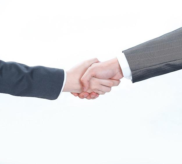 ビジネス握手男性